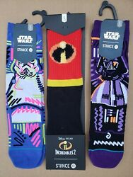 Stance Kids Socks Lot of 3 Pair Size L 2 5.5 NWT Star Wars Incredibles $24.00