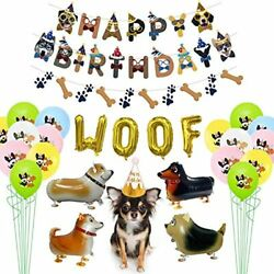 Dog Birthday Party Supplies Happy Banner 4 Walking Balloons 25 Pattern WOOF 1 $23.23