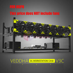 Crypto Coin Open Air Mining Miner Frame Rig Case up to 8GPU For Ethereum ETH BTC $159.99