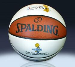 Golden State Warriors 2017 NBA Champions Spalding White Panel Basketball le5000 $89.99