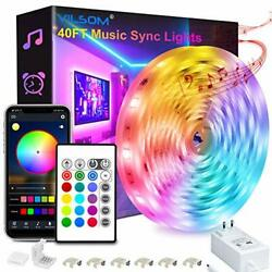 40 Feet Led Strip Lights Smart APP Control with Remote Music Sync Led Lights