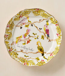 Anthropologie Inslee Fariss 12 Days of Christmas Plate 4 Four Calling Birds $119.99