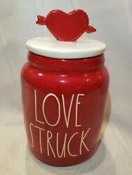 """Rae Dunn 2021 Valentines Baby Canister """"LOVE STRUCK"""" w Topper NEW HTF 💗❤️💗 $30.00"""