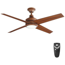 Ceiling Fan with Light Remote Control 52 Inch LED Indoor Kit Distressed Koa $193.99