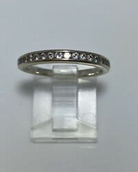 Magic Glo Diamond Ring Band 14k White Gold Size 6.5 $199.99
