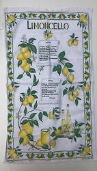 Limoncello Recipe Tea Towel Italian Decor Capri Lemon Kitchen Decor oversized $13.00