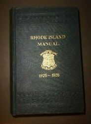 1925 1926 Rhode Island Manual with photos very nice condition $8.00