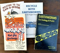 Vtg Earthworm Edible Gardening Compost Book Lot Horticulture Recycling Paperback $12.00