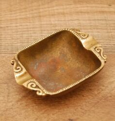 Vintage Brass Ashtray 1950 60#x27;s Classical Dayagi made in Israel 3 1 4quot; $14.99