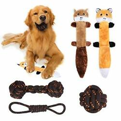 Dog ToysSqueaky Plush Toys3 Nearly Indestructible Cotton Chewing Purple $24.59
