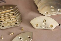 Triumph Flush Metal Toe Taps for Proper Quality Mens Dress Shoes Made in Germany $15.00