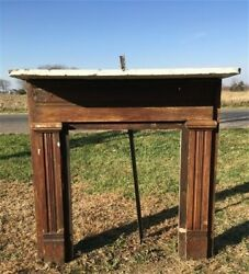 Antique Wood Fireplace Mantel Suround Architectural Salvage Victorian Rustic A26 $450.00