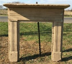 Antique Wood Fireplace Mantel Suround Architectural Salvage Victorian Rustic A33 $450.00