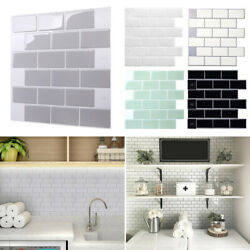 Mosaic Tiles Stickers Self Adhesive Stick On Kitchen Wall Living Room Decal $9.30
