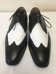 Men's Florsheim Imperial Wingtip Black amp; White Dress Shoes Size 10 EEE
