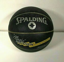 Vintage 1980s Magic Johnson Black Spalding Basketball Used Collectors Item $20.00