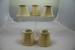 Tan Bell Shaped Clip On Chandelier Shades 4quot; tall Set of 5 $15.00