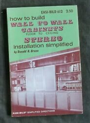 How To Build Wall To Wall Cabinets Softcover $5.00