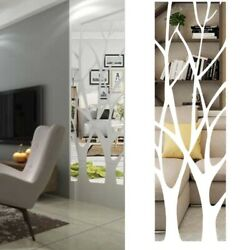 3D Tree Acrylic Mirror Wall Sticker Decal Mural Home Living Room Decoration DIY $12.38