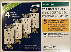 LEVITON GFNT2 4W GFI GFCI 20A GFI OUTLET WHITE 4 PACK NEW