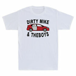 Red Car Dirty Mike And The Boys Funny Men#x27;s Cotton Short Sleeve T Shirt $21.99