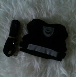 Solid Black Extra Small Dog Harness With Leash Soft Mesh NWT $11.00