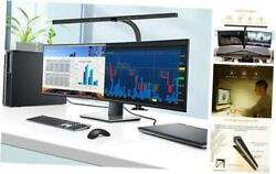 LED Desk Lamp 24 Watts Office Desk Lamps with Architect Clamp Workbench Black $106.77
