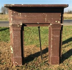 Antique Wood Fireplace Mantel Suround Architectural Salvage Victorian Rustic A21 $450.00