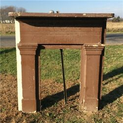Antique Wood Fireplace Mantel Suround Architectural Salvage Victorian Rustic A22 $450.00