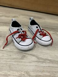 Converse All Star Toddler CT Simple Slip On Thu Grey Black Red Low Size 5 $13.99
