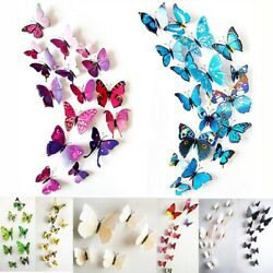 12 Pcs 3D Butterfly Wall Stickers PVC Children Room Decal Home Decoration Decor $7.18