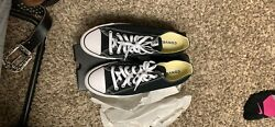 Converse All Star Mens Size 10 Low Top Chuck Taylor White Black M9166 $20.00