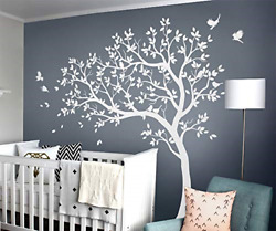 Large Tree Wall Decals Nursery Wall Tree Stickers with Birds Stunning Tree Wall $88.25