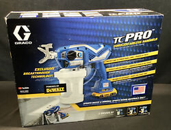 BRAND NEW Graco TC Dewalt Pro Cordless Airless Handheld Sprayer 17N166 $399.95