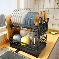 Stainless Steel Kitchen Shelf Dish Drying Rack Storage Rack Tableware Stand $39.09