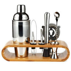 Professional Pub Bartender Kit Cocktail Shaker Stainless Steel Kitchen 10 Pieces $20.69