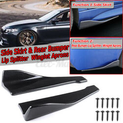 Carbon Fiber Rear Bumper Lip Spoiler Canards Side Skirt For BMW E90 E92 E93 $26.99