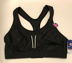 NWT Champion Sports Bra The Ultra Light Max Double Dry Maximum Black Size 38C $17.99