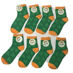 8 Pairs St. Patricks Day Lucky Four Leaf Clover Novelty Socks Women's 9 11 $7.99
