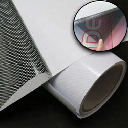 Perforated Exterior Mount One Way Vision Car Window Vinyl Film 54quot;x100ft,70 30