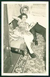 MAN GROPES PARTY GIRLs BREAST PULLING GIRL ON BED Vintage Photo $12.00