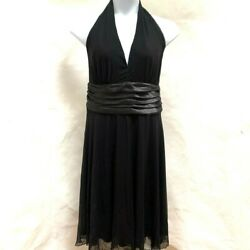 Avenue 20 Halter Dress Black Cocktail Plus Size New $34.99