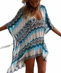 Beach Cover Up Women#x27;s Summer Swimsuit Bikini Beach Swimwear Cover up One Size $17.50