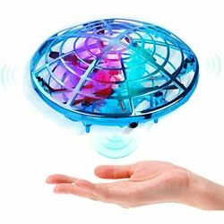 HAAYOT Hand Operated Mini Drone Kids Flying Toys With LED Lights Free Aircraft $30.76