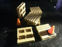 Set of 650mm×50mm Scale Wood Pallets for RC and Forklifts real wood fiber $16.99