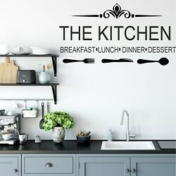 Wall Art Stickers THE KITCHEN Removable Home Decals Kitchen quotes M GBP 12.99