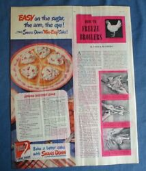 1940s 1947 SWANS DOWN Cake Flour AD COLEMAN OIL WATER HEATER Ad 10.5quot;x13.5quot; $6.95