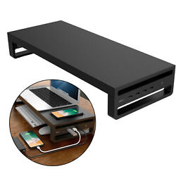 Metal Laptop PC Monitor Desk Stand Computer Riser Support Table Organizer $54.32