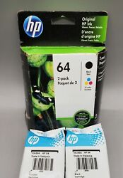 HP 64 X4D92AN Combo Ink Cartridge 2 Pack 1 black 1 color Genuine $31.99