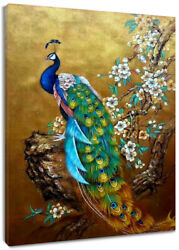 Vintage Peacock Flower Tree Canvas Wall Modern Art Painting Home Office Decor $15.99